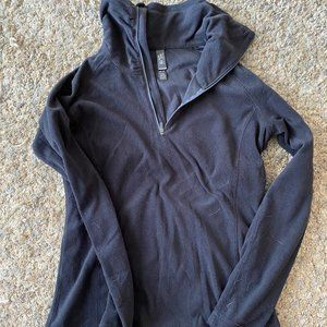 Mountain Hardwear Fleece Zip Up - Black Size Med